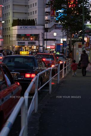 客待ちタクシーの写真素材 [FYI00414180]