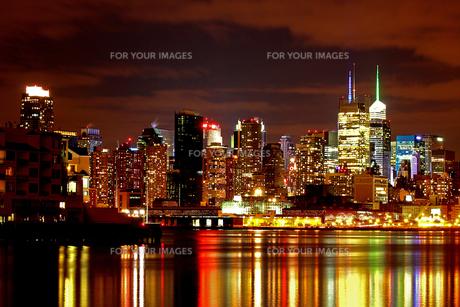 マンハッタン 夜景の写真素材 [FYI00414208]