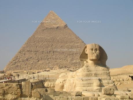 スフィンクスとピラミッドの写真素材 [FYI00414455]