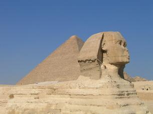 スフィンクスとピラミッドの写真素材 [FYI00414464]