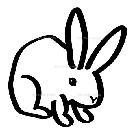 手描きのウサギの写真素材 [FYI00414542]