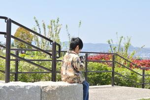 公園でおにぎりをの写真素材 [FYI00414545]
