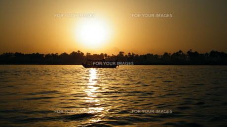 黄金のナイル河 Golden nileの写真素材 [FYI00414585]