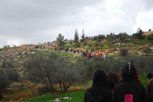 パレスチナ ビリン村デモの素材 [FYI00414621]