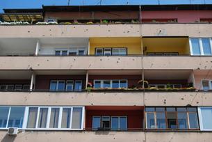 蜂の巣の街サラエボの写真素材 [FYI00414643]