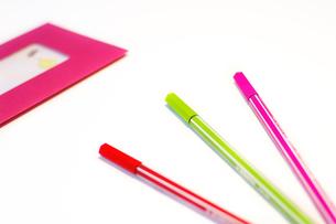 カラフルなペンの写真素材 [FYI00415322]