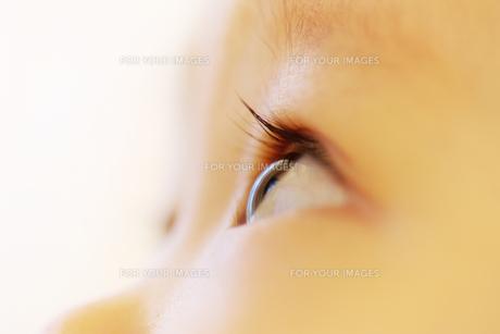赤ちゃんの瞳の写真素材 [FYI00415407]