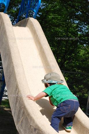 滑り台で遊ぶ子供の写真素材 [FYI00415827]