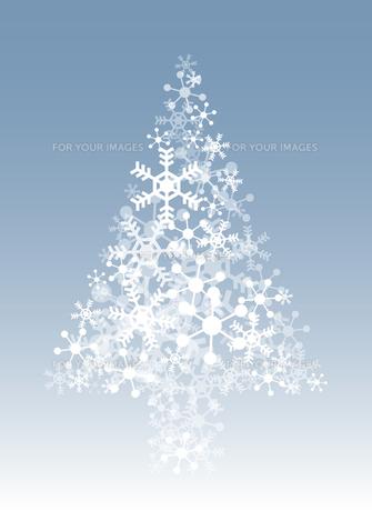 雪の結晶のクリスマスツリーの素材 [FYI00416191]
