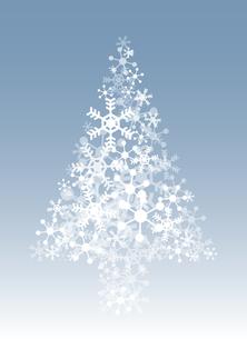 雪の結晶のクリスマスツリーの写真素材 [FYI00416191]