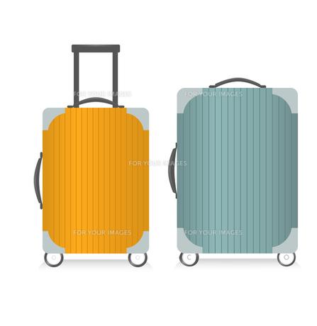二種類のスーツケースの写真素材 [FYI00416192]