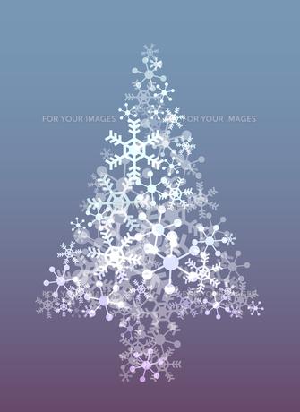 雪の結晶のクリスマスツリーの素材 [FYI00416202]