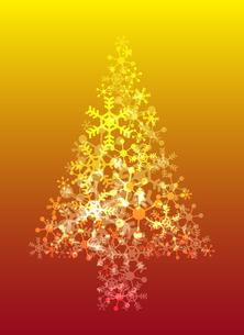 雪の結晶のクリスマスツリーの素材 [FYI00416205]