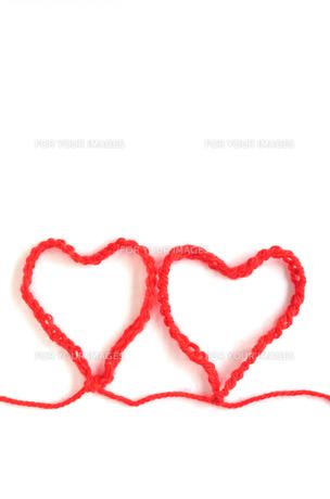 毛糸のハートの写真素材 [FYI00416512]