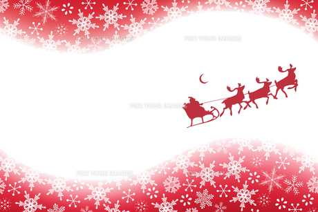クリスマス 雪とサンタクロース (Christmas Snowflakes and Santa Claus)の素材 [FYI00417046]
