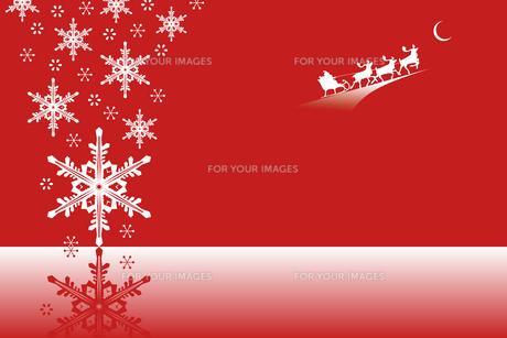 クリスマス 雪とサンタクロースの写真素材 [FYI00417060]