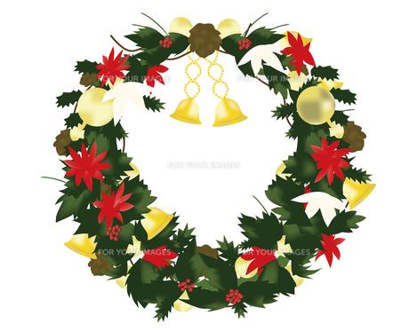 クリスマスのリースの写真素材 [FYI00417164]