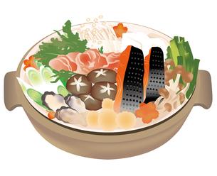 鍋のイラストの写真素材 [FYI00417171]
