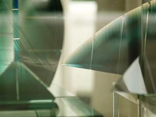 ガラスのオブジェの写真素材 [FYI00417227]
