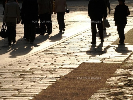 石畳の影の素材 [FYI00417648]