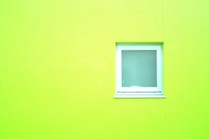 緑色の窓の写真素材 [FYI00417794]