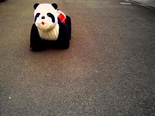 ポツンと残った遊具パンダの写真素材 [FYI00418424]