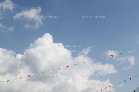 運動会の青空の写真素材 [FYI00418912]