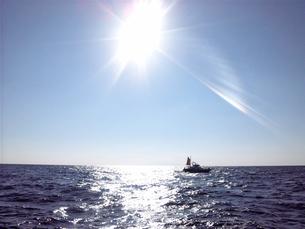 海面反射その1の写真素材 [FYI00419390]