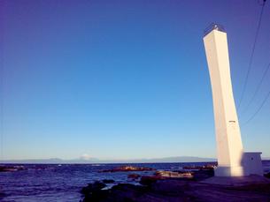 灯台と富士山02の写真素材 [FYI00419397]