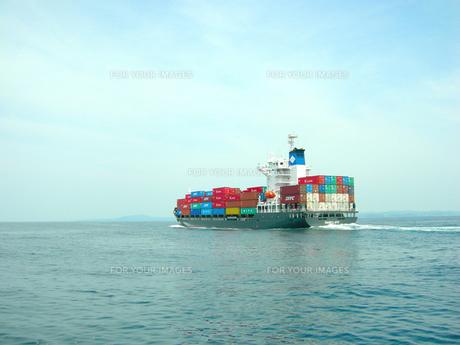 大型コンテナ船の素材 [FYI00419414]