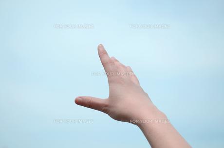 女性の伸ばした手の写真素材 [FYI00419510]