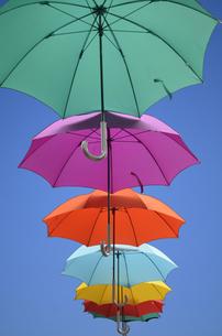 カラフルな傘の写真素材 [FYI00419531]
