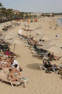 リゾート地の砂浜の写真素材 [FYI00419577]
