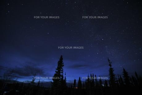 北極圏の夜の写真素材 [FYI00419599]