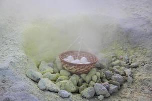 硫黄山のゆで卵の写真素材 [FYI00419648]