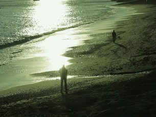 たそがれどきの海の写真素材 [FYI00420287]