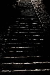 夜の階段の写真素材 [FYI00420618]