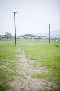 電柱と空き地の写真素材 [FYI00420633]