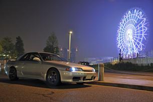 お台場観覧車と車の写真素材 [FYI00420951]