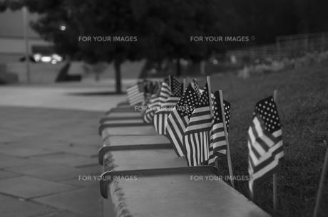 同時多発テロ追悼国旗の写真素材 [FYI00420965]