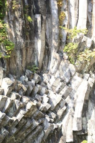 玄武洞 青龍洞の地質の写真素材 [FYI00421104]