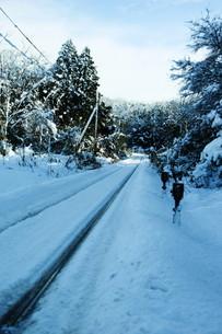 線路に積雪の素材 [FYI00421170]