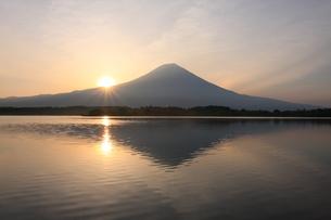 富士山の日の出の写真素材 [FYI00421316]