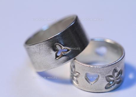 銀の指輪の写真素材 [FYI00421327]