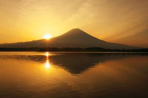 朝日と富士山の写真素材 [FYI00421372]