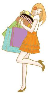 買い物をする若い女性の写真素材 [FYI00421471]