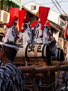 野田恵比寿神社 夏祭り 太鼓の写真素材 [FYI00421681]
