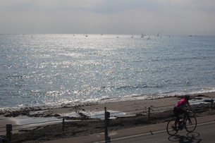 海辺を自転車での素材 [FYI00421714]