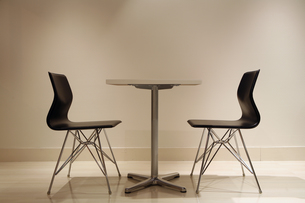 テーブルセット・横の写真素材 [FYI00421779]