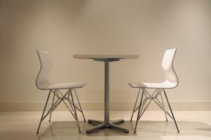 テーブルセット・横・白の写真素材 [FYI00421780]